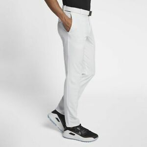 2019 hot sale great discount 100% satisfaction guarantee Details about Men Nike Flex Slim Fit Golf Pants 891887 100 SIZE 36 32 White