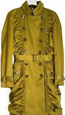 "Brand New Burberry ""Hinkly"" Cape Green Rushed Trench Coat, Size UK6"