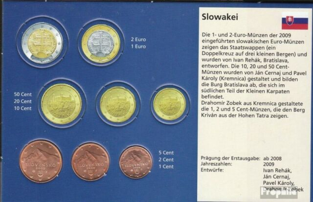 Slovakia SK1- 3 uncirculated UNC mixed Vintages uncirculated UNC ab 2009 Kursmün