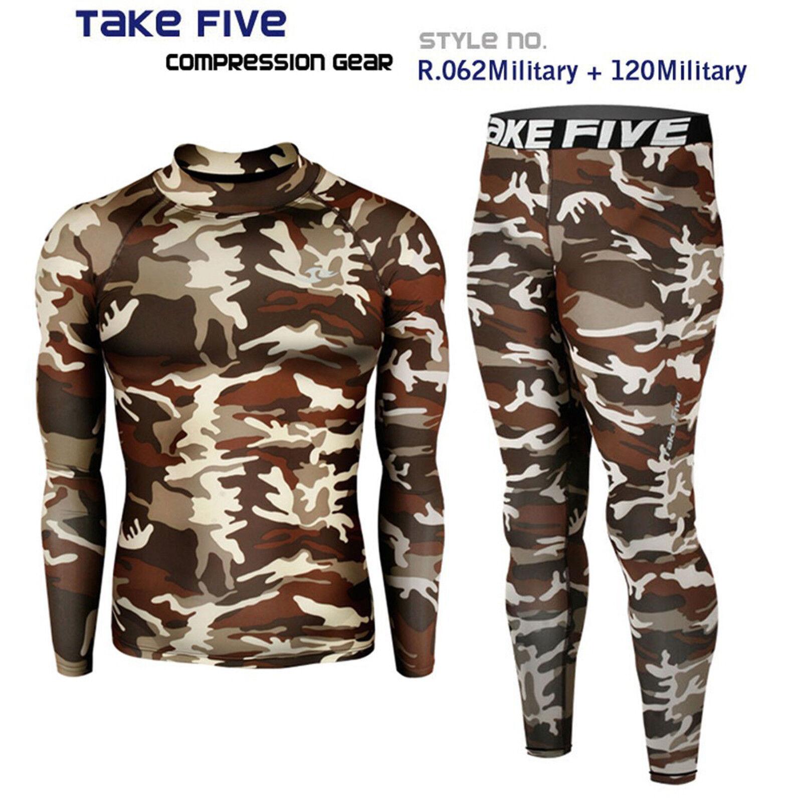 2019 New_Take Five Men's Compression Skin Tight Sports Top & Pants Sets_062+120