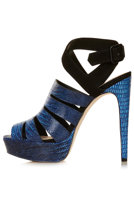 NEU TOPSHOP LIZZIE platform Sandale UK 6 in Blau