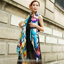 XXXL 100% echt silk Reine Seide Seidentuch Schals scarf Damen 180cmX110cm 012