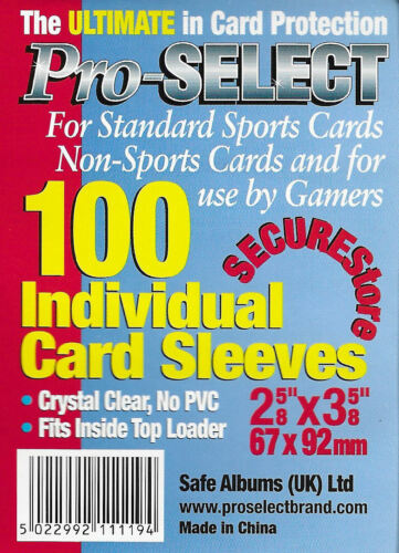 100x Soft Trading Card Sleeves For regular sized card protection.