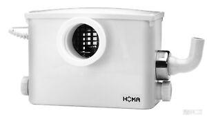 Homa Hebeanlage Schmutzwasser Pumpe mit Schneidwerk Sanifox für WC u. Dusche