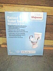 Walgreens Raised Toilet Seat With Handles 276738 New