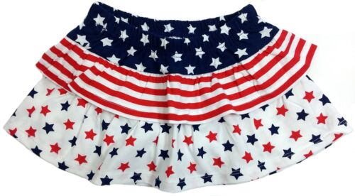 NWT Jumping Beans Red White Blue Stars Scooter Skort Skirt Baby 9M 12M 18M 24M