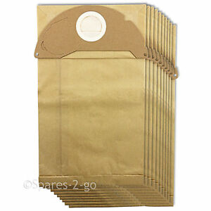 10 x filtered dust bags double walled for karcher mv2 ipx4. Black Bedroom Furniture Sets. Home Design Ideas