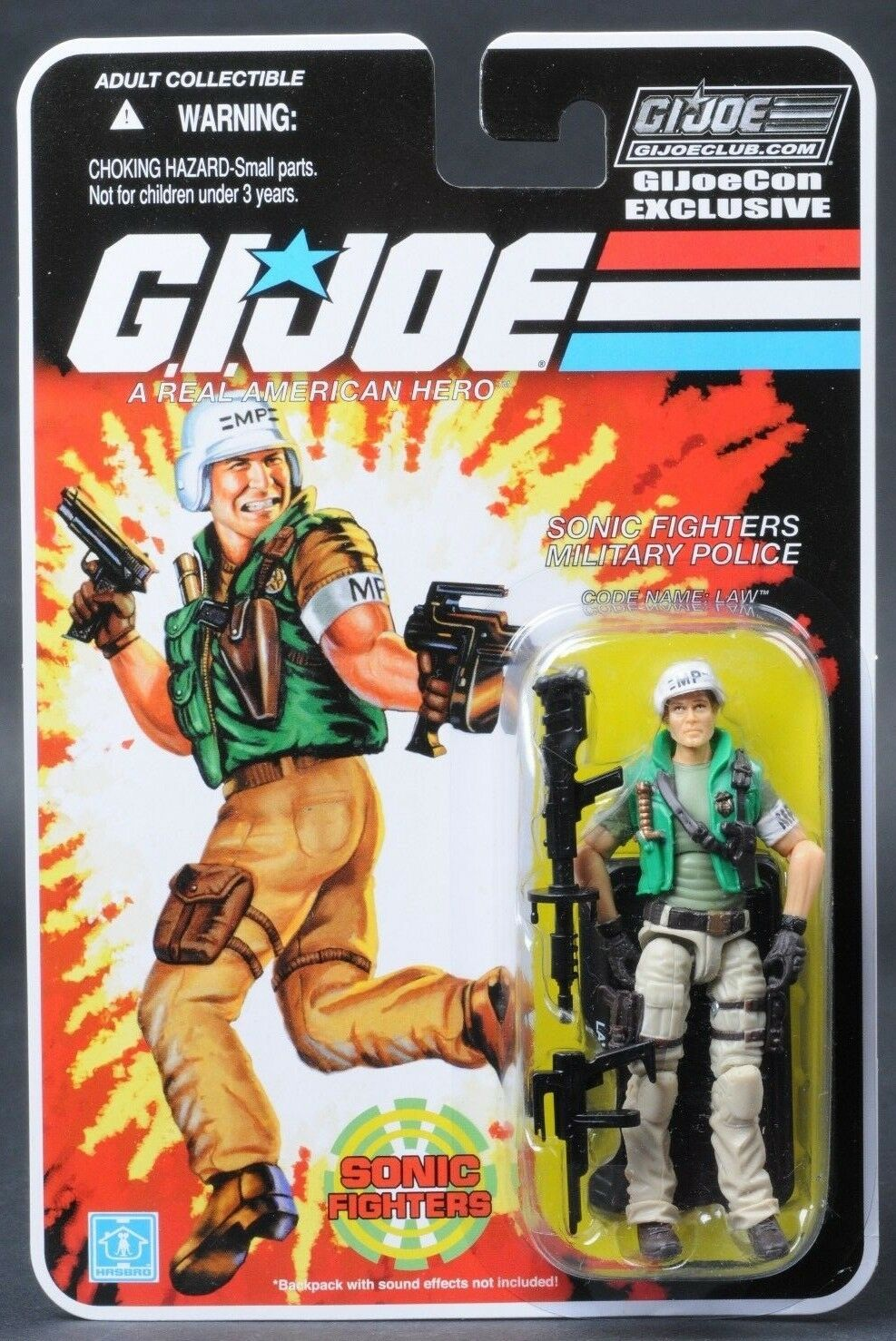 2018 2018 GI Joe Con JoeCon Sonic Fighters Law Carded MOC Exclusive