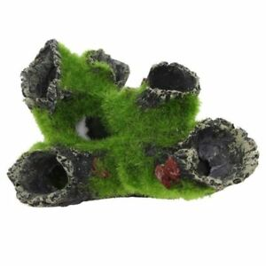 Aquarium-Cave-Decoration-Rock-with-Grass-for-Fish-Shrimp-hide-16-x-11-cm