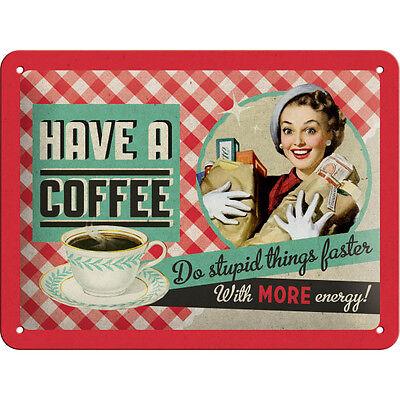 * PinUp Küchenschild Vintage Blechschild Werbung Küche Kochen 15x20cm