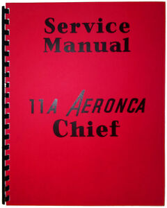 11a aeronca chief service manual reprint ebay rh ebay com aeronca chief service manual Aeronca Chief 11 BC