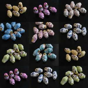 20Ps Porcelain Handmade Smile Russia Dolls Beads Spacer Findings 21Colors U Pick