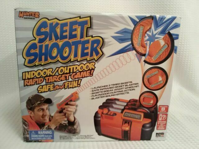 Live Action Infrared Gun Skeet Shooter w//3 Flying Disc Targets Shooting Practice