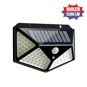 100-LED-Solar-Power-PIR-Motion-Sensor-Wall-Light-Outdoor-Garden-Lamp-Waterproof