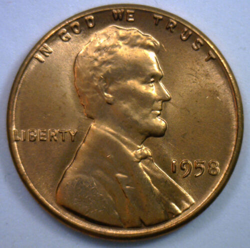 1958 Uncirculated Copper Lincoln Cent BU Penny Wheat Cent Nice Coin