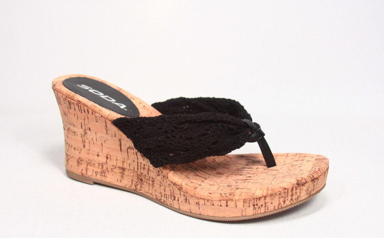 les sandales de forme glisser sur la plate - forme de causalité coin string chaussures 5,5 - 10 nouvelle taille 221aac