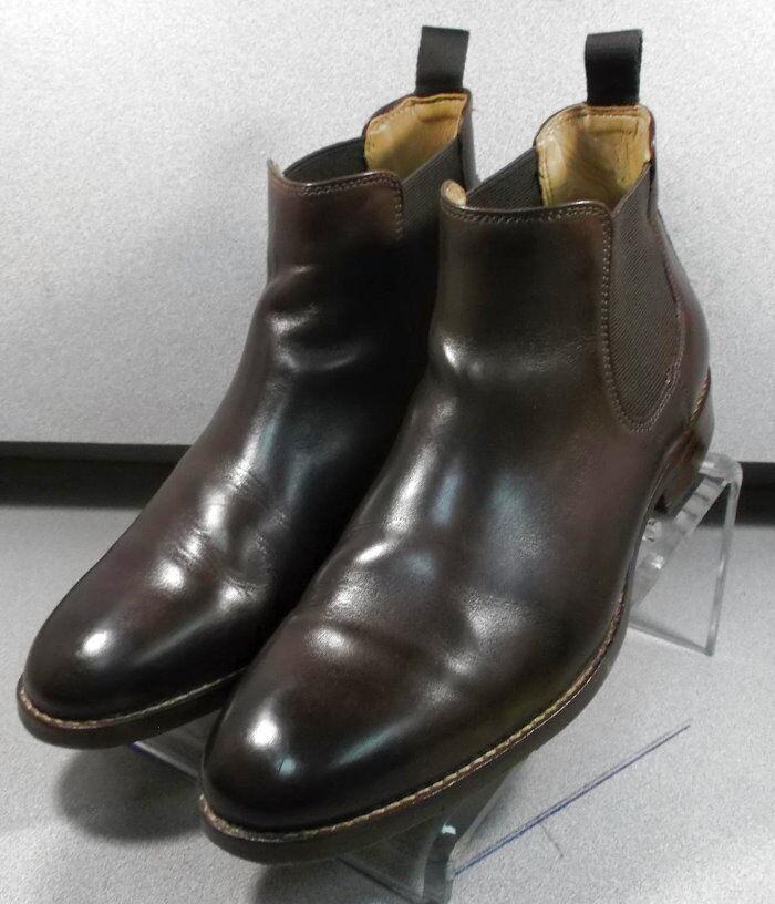 209823 pfbt 40 para hombres zapatos M Marrón Cuero botas Johnston & Murphy