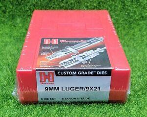 Hornady 9mm Luger/9X21 Custom Grade Reloading 3-Die Set Full Length - 546515