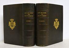LES ŒUVRES MORALES DE PLUTARQUE - LIVRE ANCIEN - RELIURE SIGNÉE - 1576 - GRAVURE