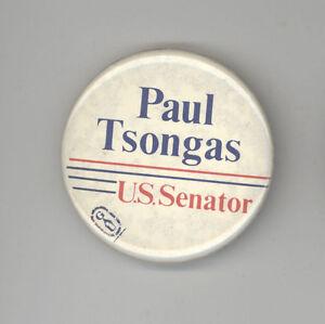 e623830369e Details about PAUL TSONGAS US Senate MASSACHUSETTS Political PIN Button  PINBACK Badge MASS MA