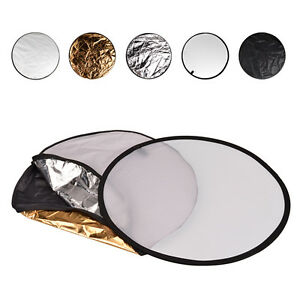 """27"""" 60cm 5-in-1 Photography Multi Disc Photo Collapsible Light Reflector Grips"""