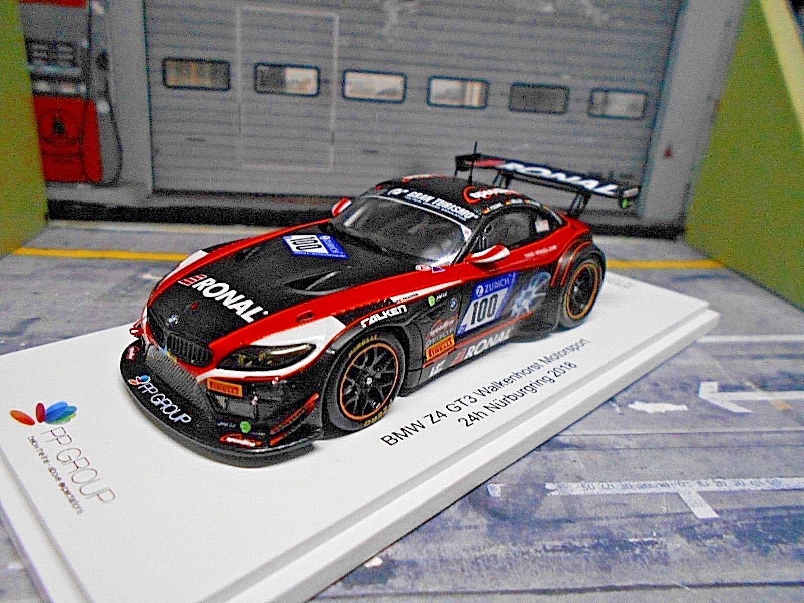 BMW Z4 GT3 Walkenhorst 24h Nürburgring 2018 Müller Adams Ronal Spark 1 43