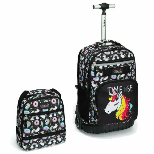 Tilami Rolling Backpack 18 inch with Lunch Bag Wheeled Laptop Backpack Horse