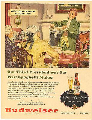 Studebaker Dream Evident Effect Vintage 1948 Magazine Ad Budweiser Enjoy Every Golden Drop Advertising