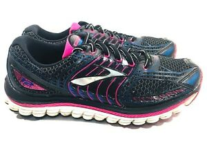 ea52209f BROOKS Glycerin 12 Women Size 8 Black Pink Running Shoe 3D Stretch ...