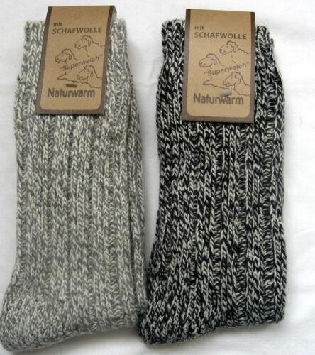 2 Pair Ladies Norwegian Socks with 70/% Sheep/'s Wool Light and Dark Grey 35-42