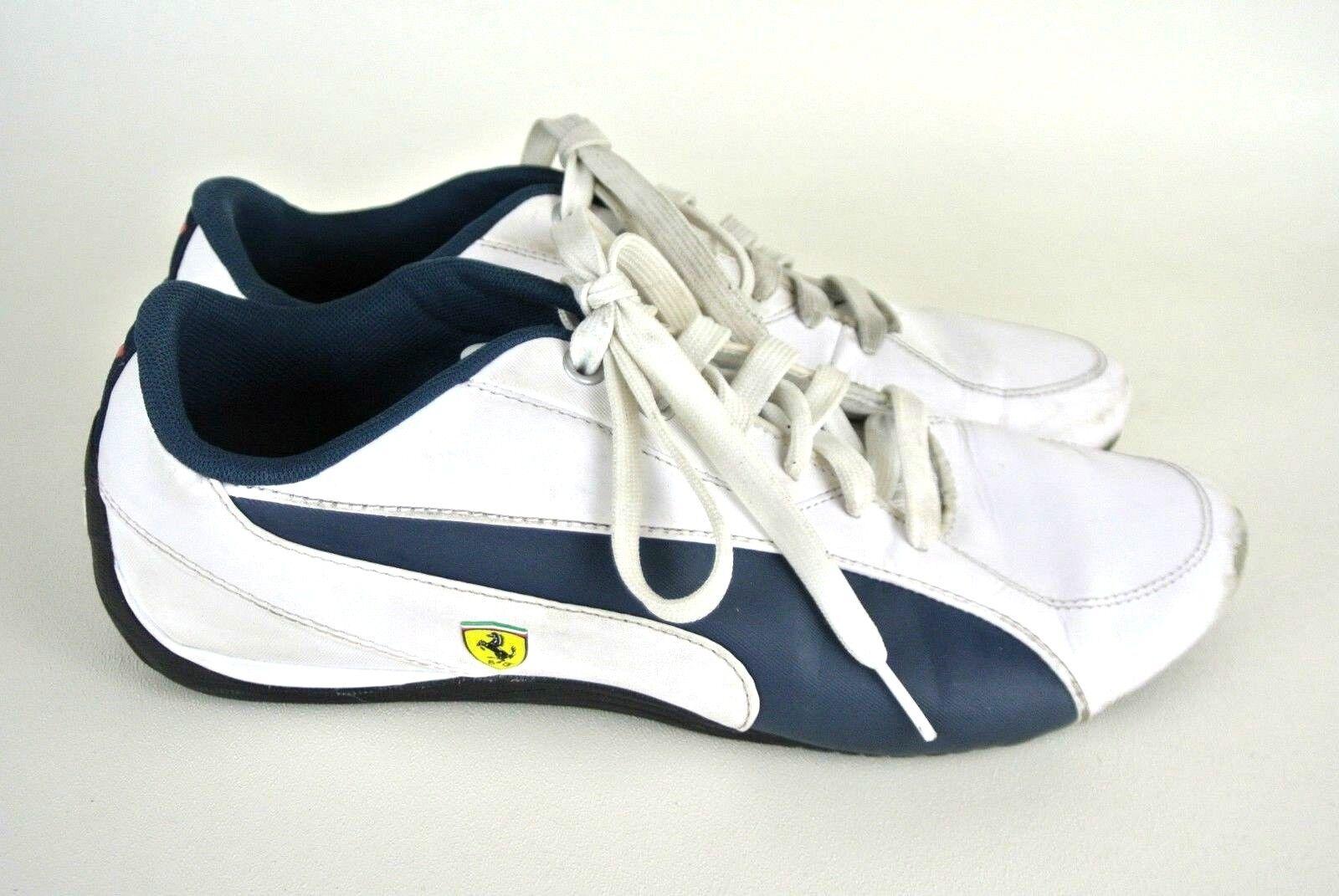 Puma Femme Lacets Baskets 9 Blanc Bleu Ferrari SIGNE athlétique Casual  1008