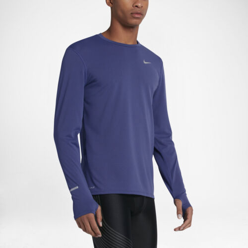 Mens Nike DriFit Contour LS Running Shirt Sz S Purple 683521-508 FREE SHIPPING