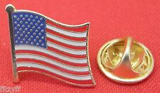 USA Stars and Stripes America Country Flag Lapel Hat Cap Tie Pin Badge American