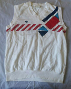 Details about Vintage Adidas Ivan Lendl Tennis 80's Sweater Vest Mens Size: M