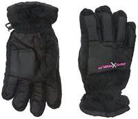 Zeroxposur Girls 4-16 M/l Thinsulate Ski Gloves Black Tricot Medium / Large