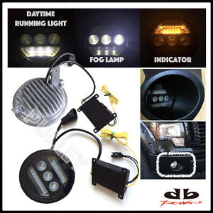 DBMOTOR 2011-2014 Frod F150 LED Fog Lamp with Daytime Running Light & Indicator
