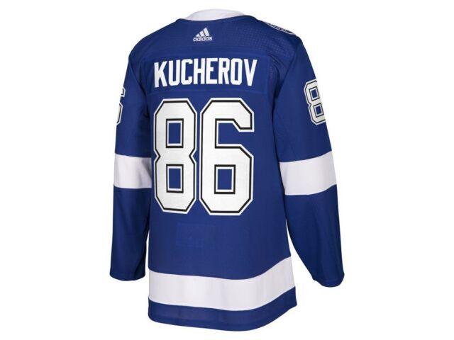 Tampa Bay Lightning adidas Nikita Kucherov Authentic Pro Jersey Blue ... 3e771aa82