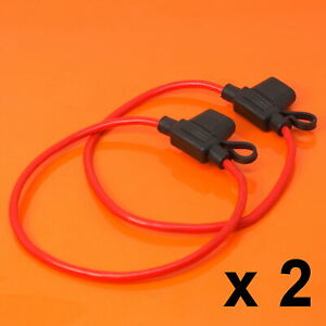 2-X-Inline-Portafusibles-para-aceptar-12V-30A-Mini-hoja-fusibles-a-prueba-de-salpicaduras-Auto-Moto