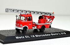 Metz DL 18 Mercedes-Benz L 319 Maßstab 1:72  Feuerwehrmodell von Atlas
