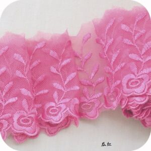 2Yards-Gauze-Embroidery-Lace-Trim-Elastic-Edge-Ribbon-Fabric-Crafts-3-94-039-039-Width