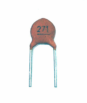 100pc Disc Ceramic Capacitor 270pF 50V ±10/% Y5P RoHS Taiwan