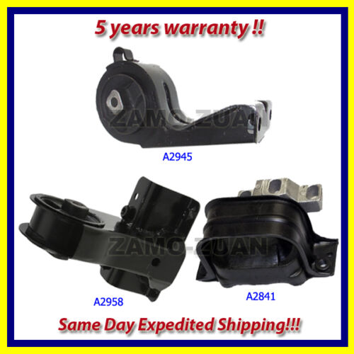 Front /& Rear Engine Motor Mount Set 3PCS 1998-2000 for Chrysler Cirrus 2.4L 2.5L