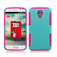 LG Volt LS740 Hybrid Mesh Case Skin Cover Sprint Boost Virgin Dual Layer