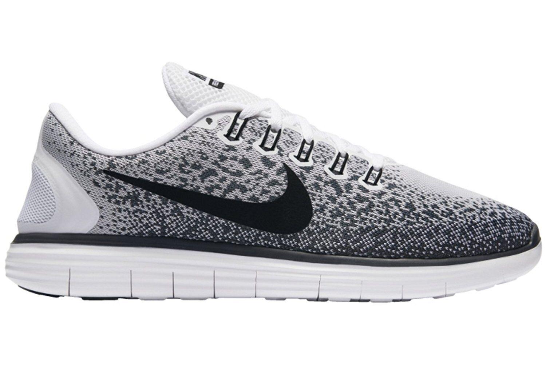 Nike Free Distance Men's Running Shoes White Black 827115-100 sz 7 9.5 12.5