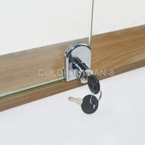 1PCS Showcase Display Cabinet Glass Cabinet Single Door Security Lock With Keys