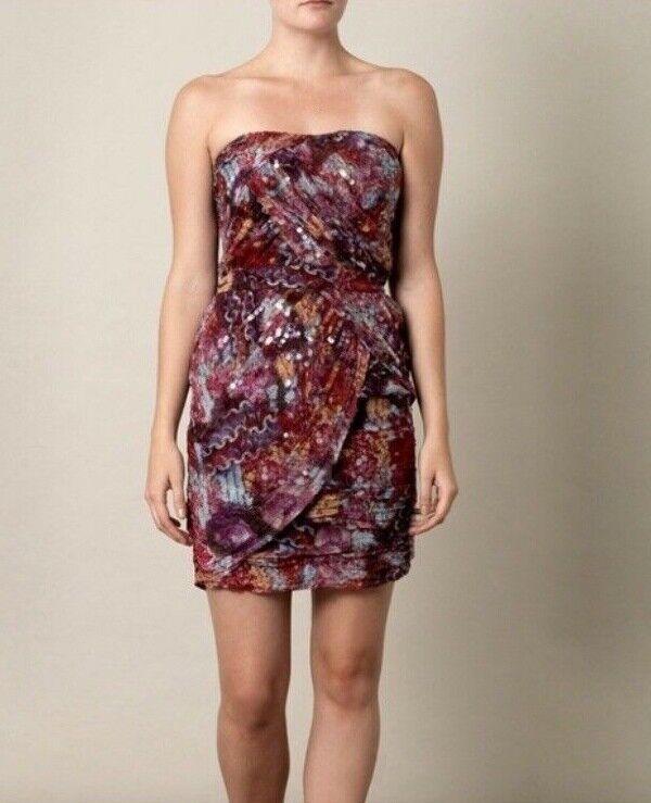 Diane Diane Diane Von Furstenberg Garvin Embellished Silk Sequin Strapless Mini Dress Sz 6 1b1ff8