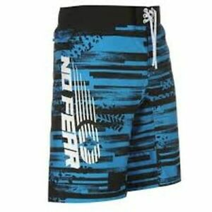 No-Fear-Men-039-s-Board-Shorts-Swim-Trunk-Active-Surf-Big-Logo-UK-Small-B541-18