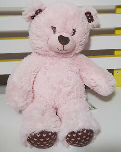PINK-BUILD-A-BEAR-TEDDY-BEAR-PLUSH-TOY-SOFT-TOY-ABOUT-28CM-SEATED-KIDS-TOY