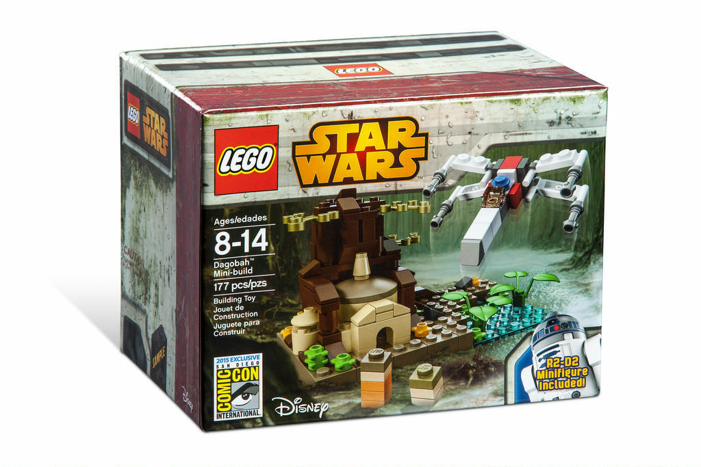 SDCC 2015 Exclusive LEGO Stern WARS Dagobah Mini-build w  R2-D2 SOLD OUT