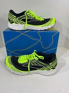 bc49e8cd2ed Brooks Asteria Men s Sz 8 Black Lime Athletic Sneakers Running Shoes ...